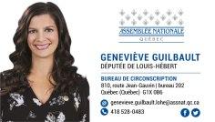 Geneviève Guilbault Vice-première Ministre du Québec députée de Louis-Hébert